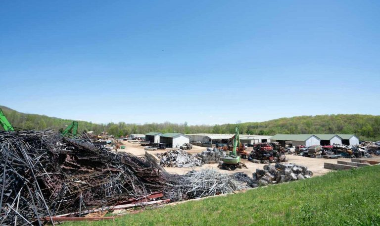 Scrap metal recycling plant in east tennessee near knoxville, tn.