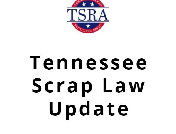 Tennessee Scrap Law Update on white background with TSRA logo at the top